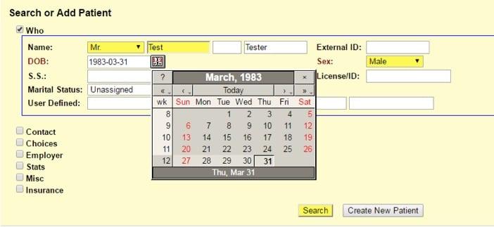 open-emr-calendar-feature