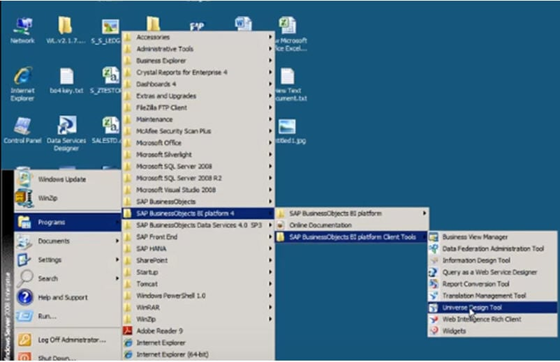 Business object desktop tools