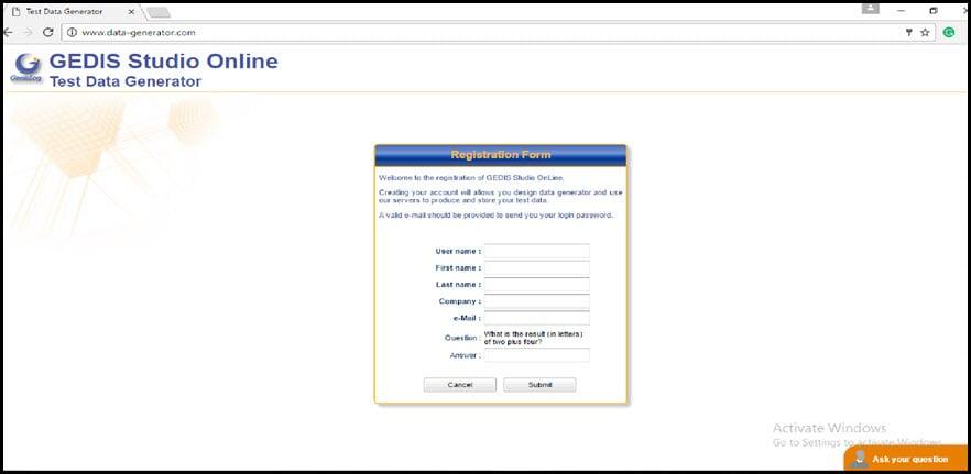 GEDIS Registration Form