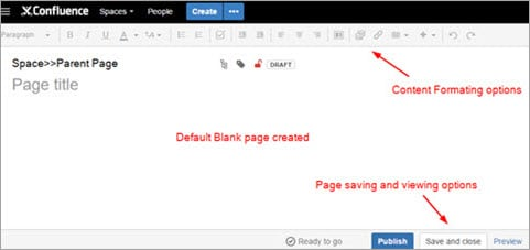 Create blank new page