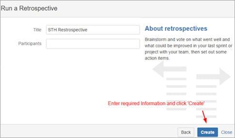 Create a Retrospectives
