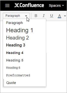 Formatting styles