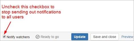 no notifications