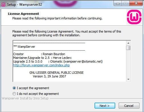 Agreement Screen