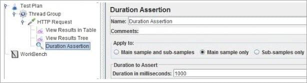 Adding Duration Assertion