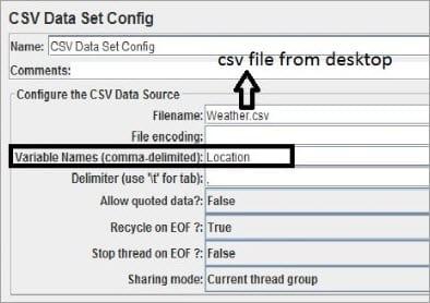Loading CSV Data File
