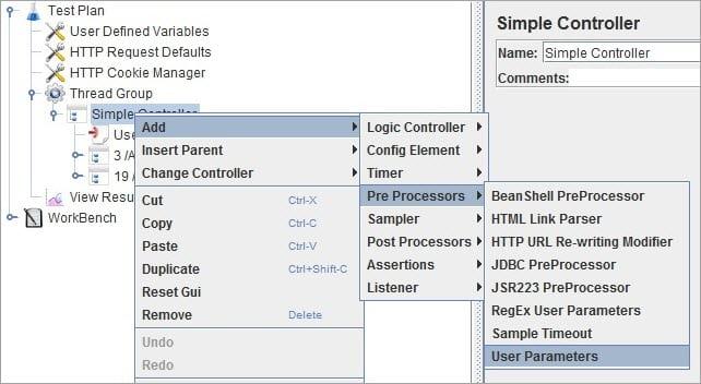Adding User Parameters