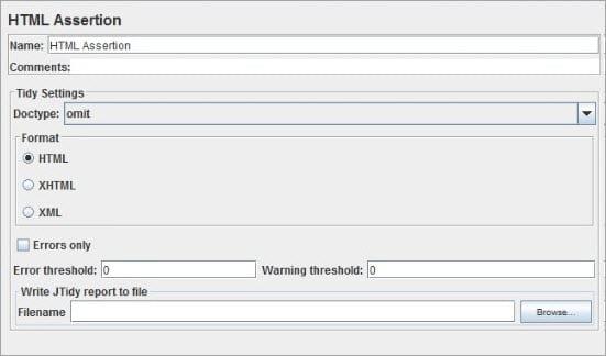 HTML New Assertion