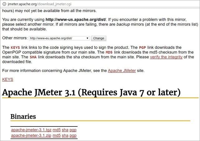Jmeter Download URL