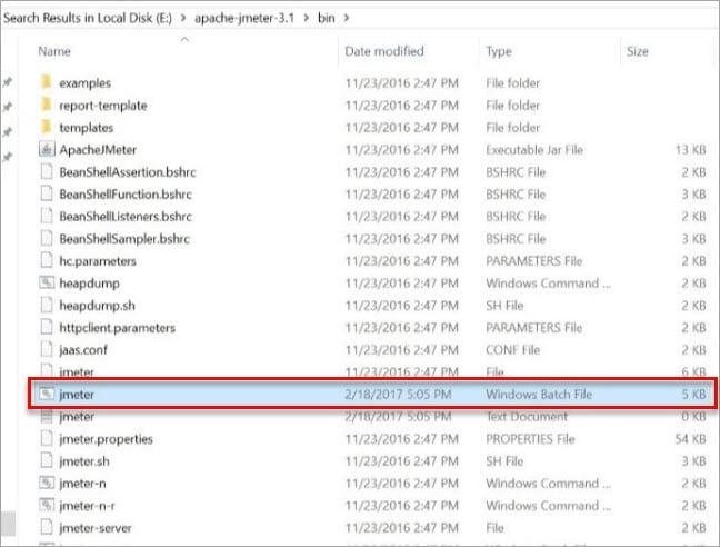 Launching Jmeter File