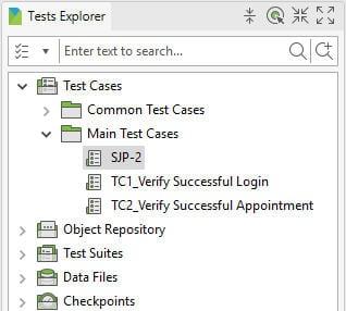 Tests Explorer