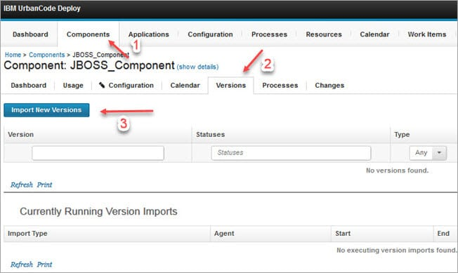 Import New component Version