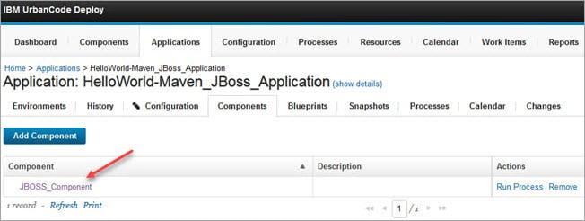 JBoss Application Added