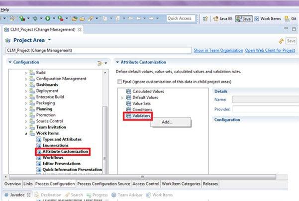 Attribute Customization - Validation