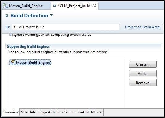 CLM Build Definition