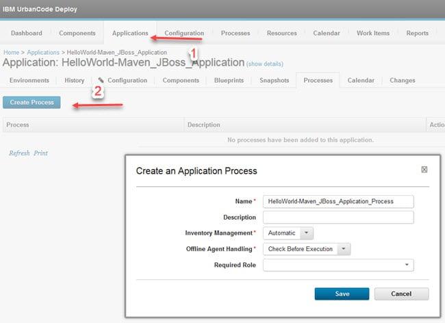 Create an Application Process
