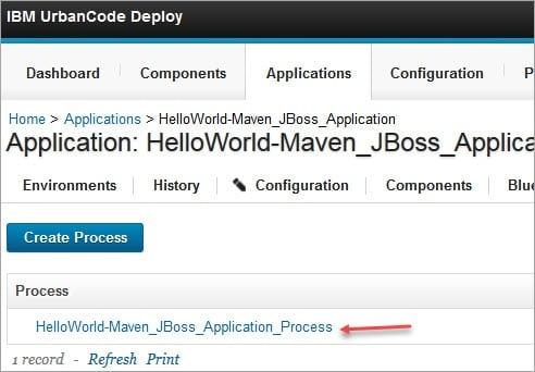 Hello Maven Application Process created