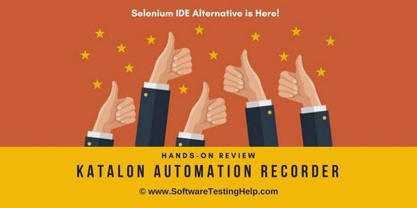 Katalon Automation Recorder tutorial