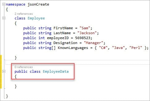How to Create JSON Structure Using C# (JSON Creation Part 2)