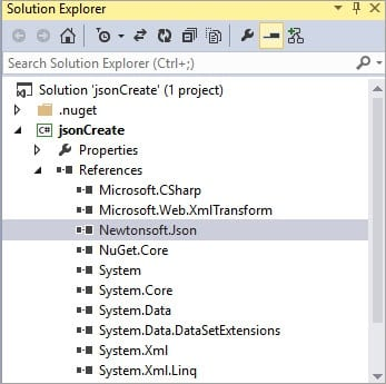 Reference In Solution Explorer