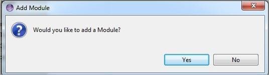 Add Module Popup