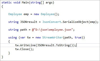 JSON Creation: How to Create JSON Objects Using C# Code