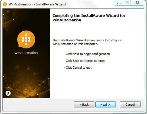 Configure WinAutomation