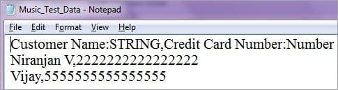 Creating Test Data csv