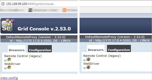 Firefox and chrome node