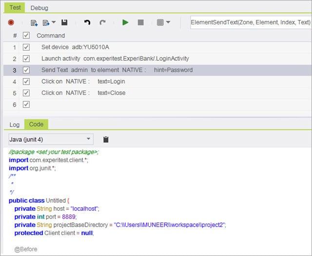 Java JUnit code