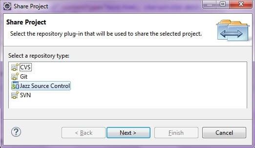 Select Jazz Source Control