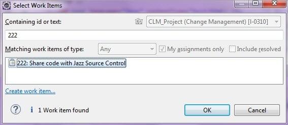 Select Work Item