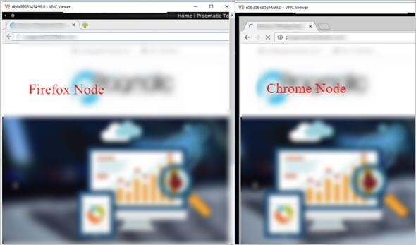 browser navigates