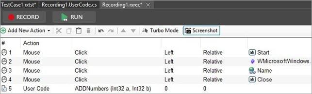Adding Methods Recording Module