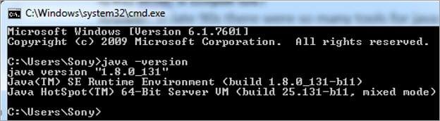 Checking Java Version