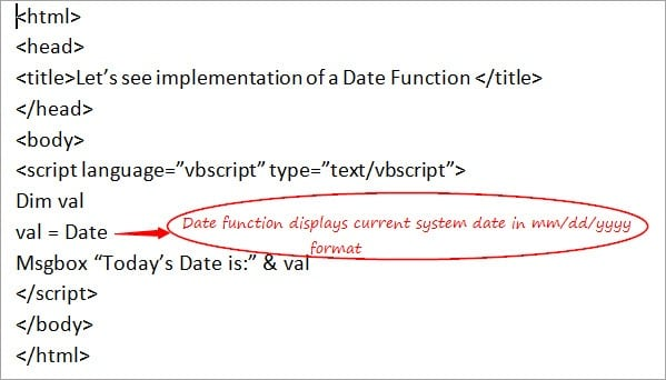 VBScript Date Functions: Date Format, DateAdd, and cDate