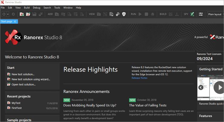 ranorex download specific version