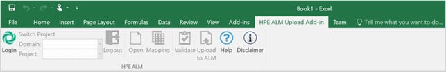 HPE ALM Upload Add-in