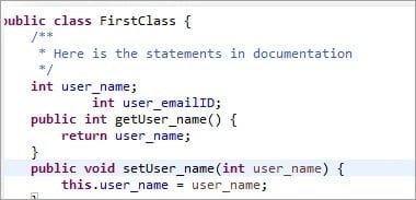 Javadoc document