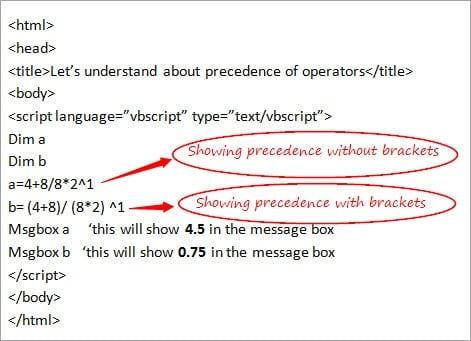 Operators Precedence