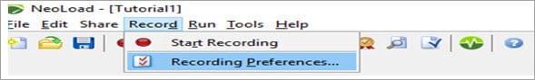 Recording options