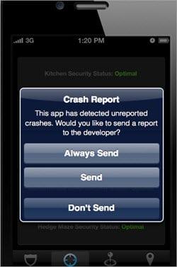 iOS Crash Image