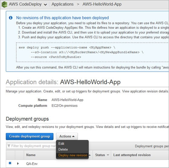 Working on AWS CodeDeploy DevOps Tool For Automated Deployment