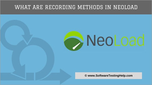 Recording methods in Neoload