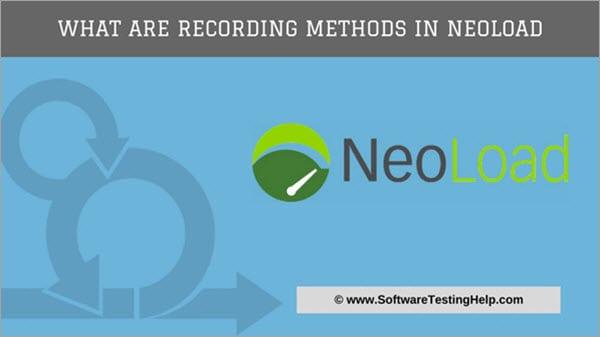 Recording methods in Neoload