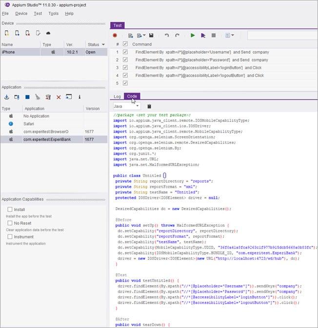 Running Test Scripts in IDE