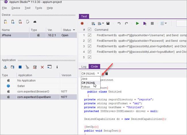 Running Test Scripts using various Programming Languages
