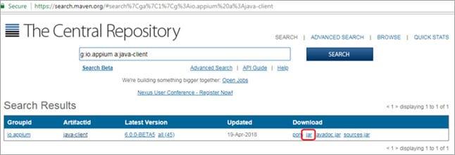 Repository Screen