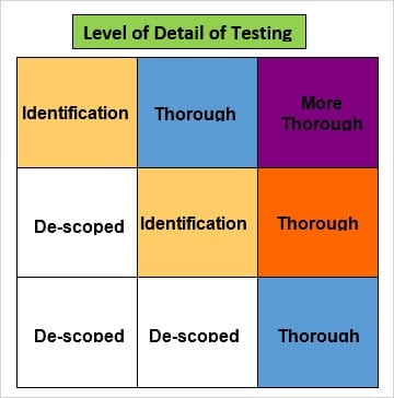 Level of Detail of Testing