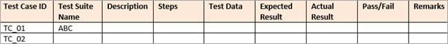 System test case